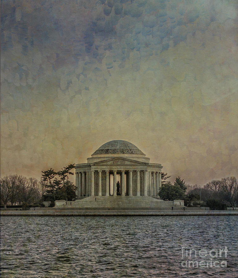 Jefferson Memorial At Dusk Photograph  - Jefferson Memorial At Dusk Fine Art Print