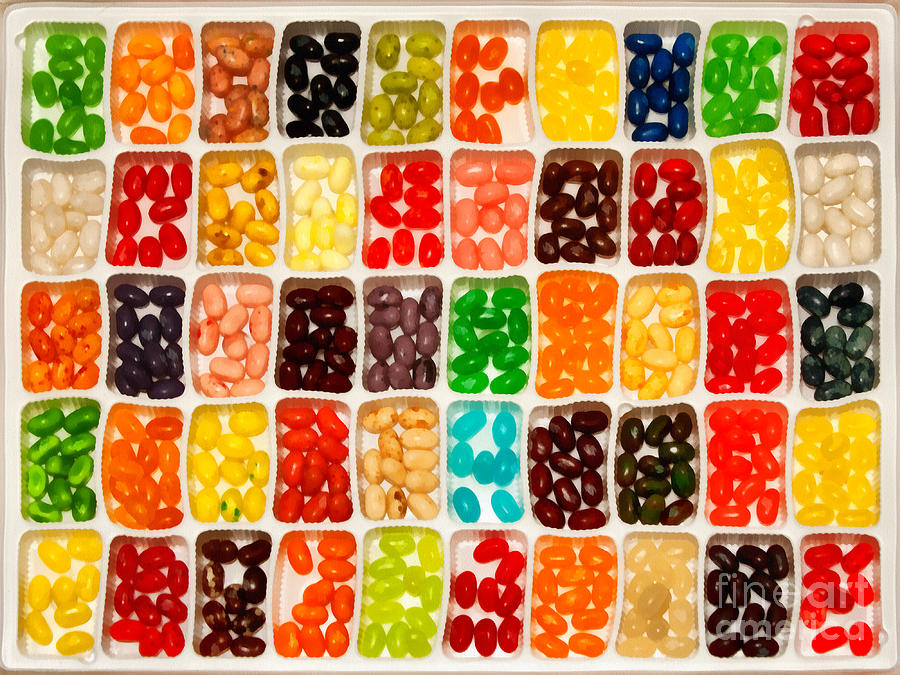 Candy Painting - Jelly Beans by Anne Kitzman