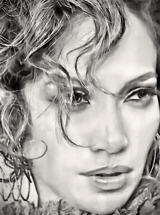 Jennifer Lopez Digital Art