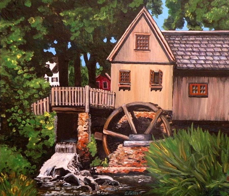 Jenny Grist Mill Plymouth Ma Painting