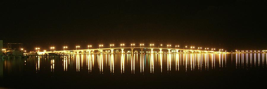 Jensen Causeway At Night Photograph  - Jensen Causeway At Night Fine Art Print