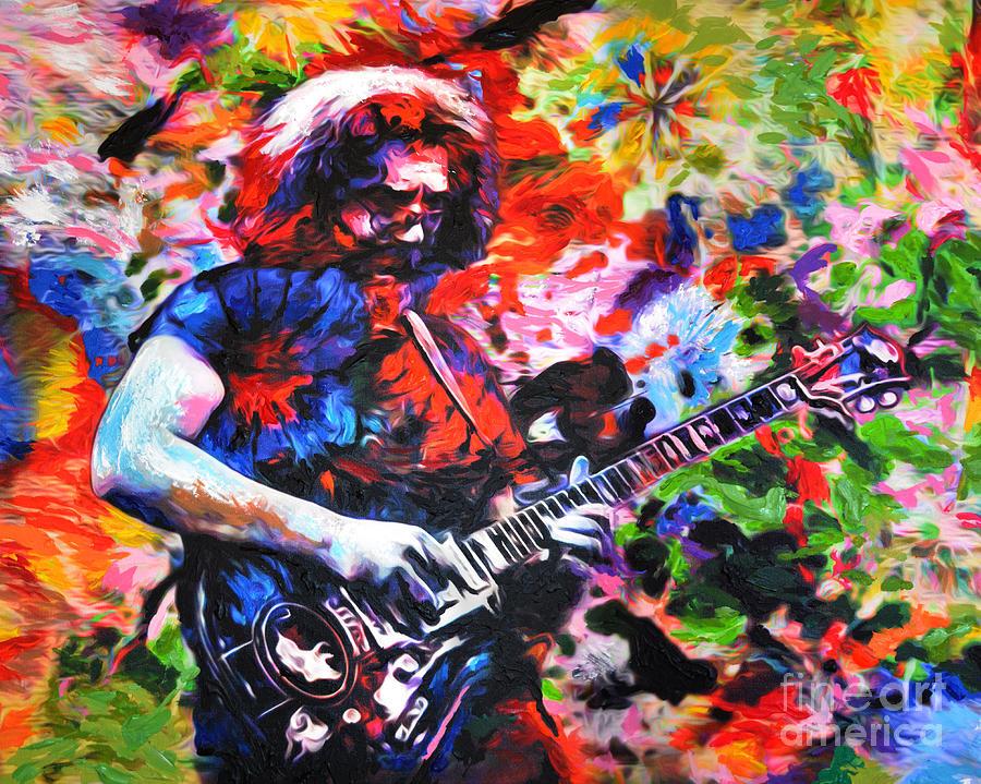 Jerry Garcia Grateful Dead Original Painting Print