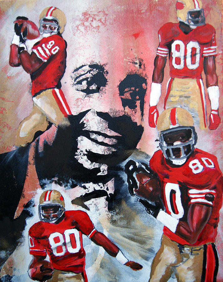 Football  Painting - Jerry Rice by Ottoniel Lima