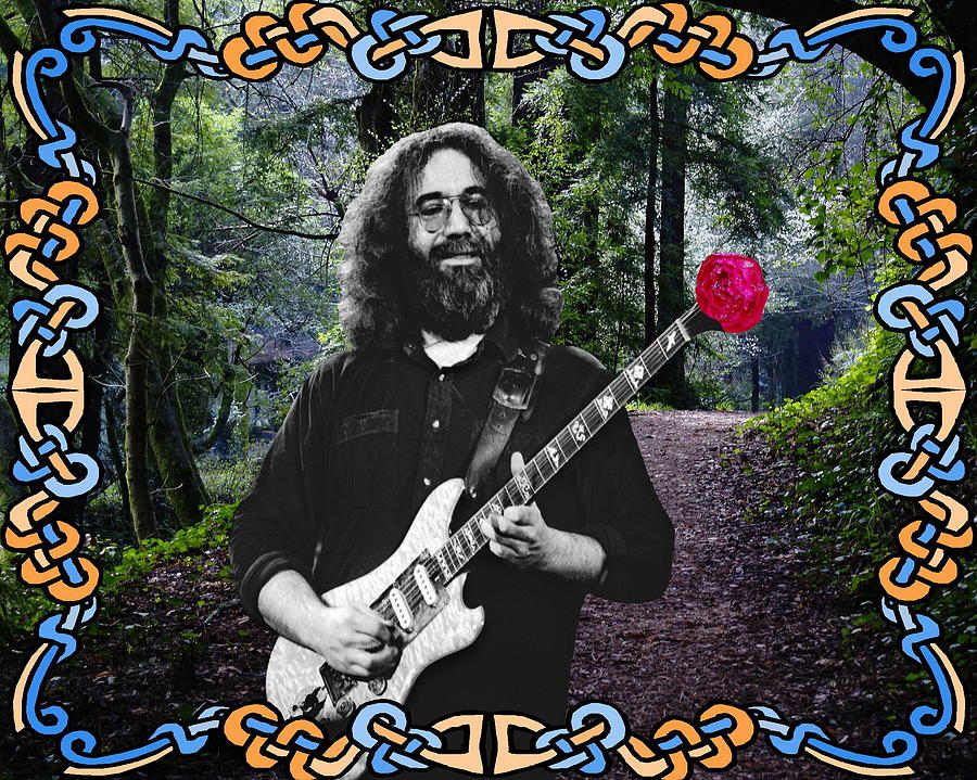 Jerry Garcia Photograph - Jerry Road Rose 1 by Ben Upham