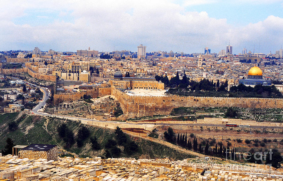 Jerusalem From Mount Olive Photograph