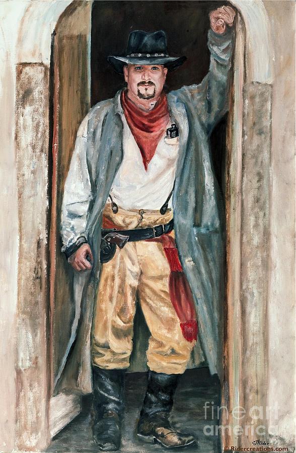 Cowboy Painting - Jesse by CJ  Rider