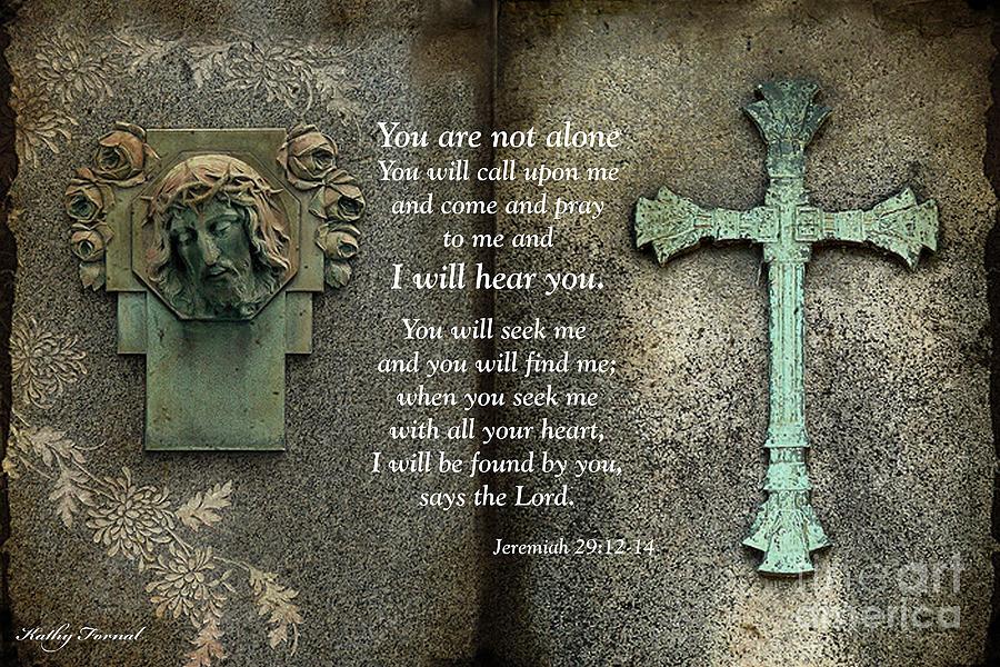 Jesus And Cross - Inspirational - Bible Scripture Photograph