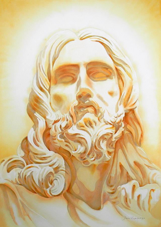 Jesus By Bernini Tribute Painting