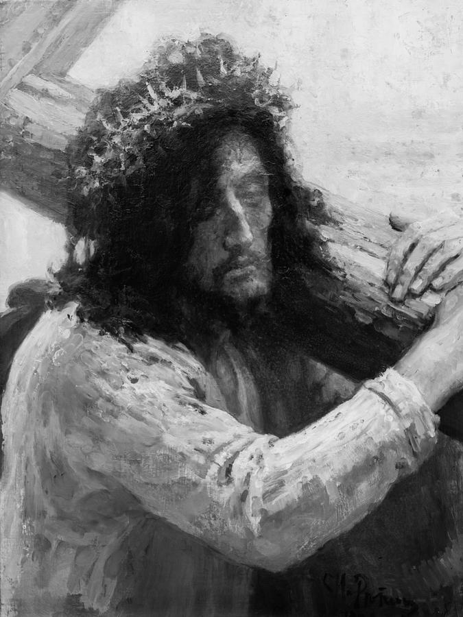 Jesus Carrying The Cross Circa 1898  Painting