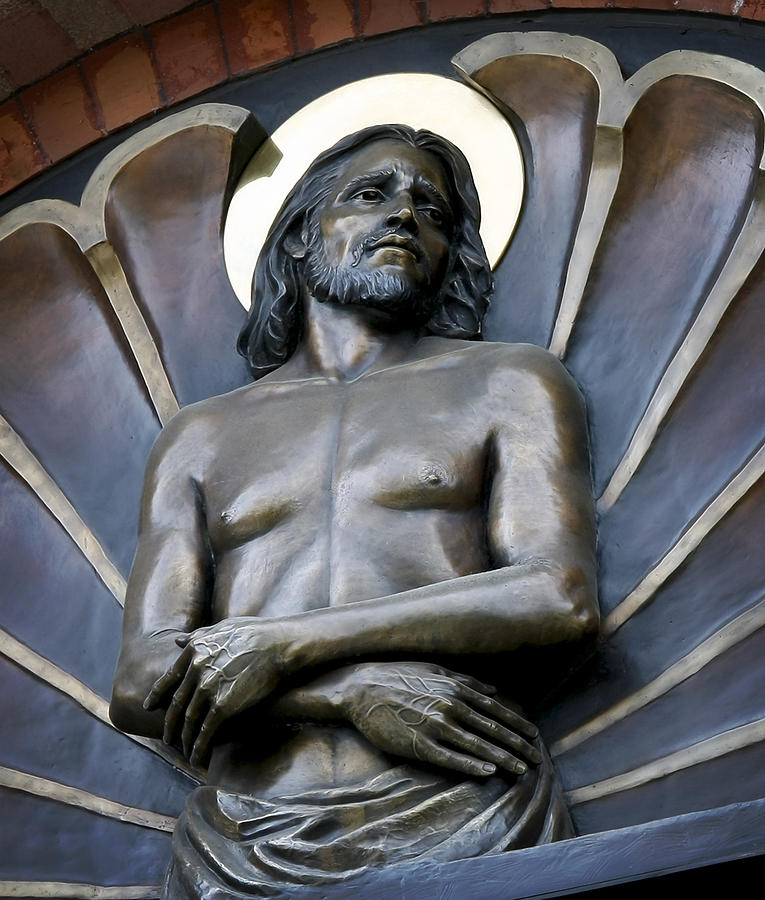 Jesus Photograph - Jesus Cathedral Icon -  Spokane Washington by Daniel Hagerman