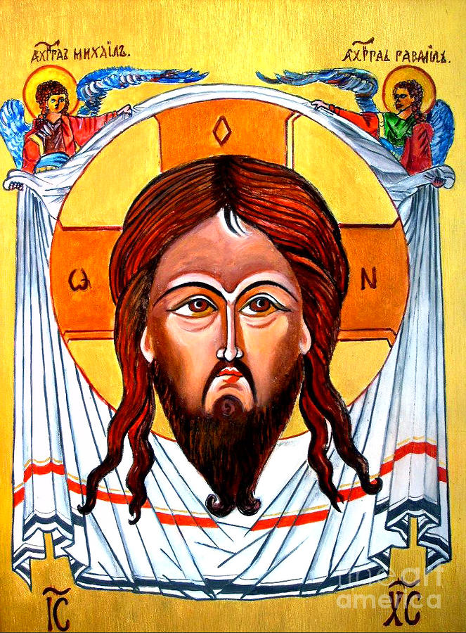 Jesus Christ Mandylion Icon Painting
