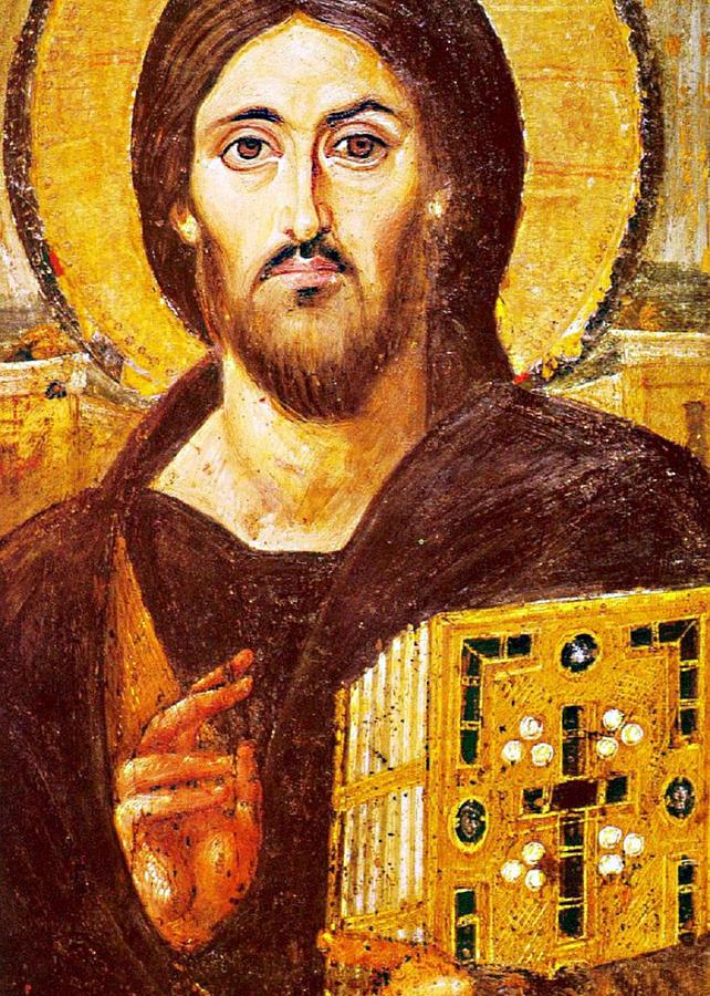 Jesus Icon Photograph - Jesus Icon At Saint Catherine Monastery by Munir Alawi