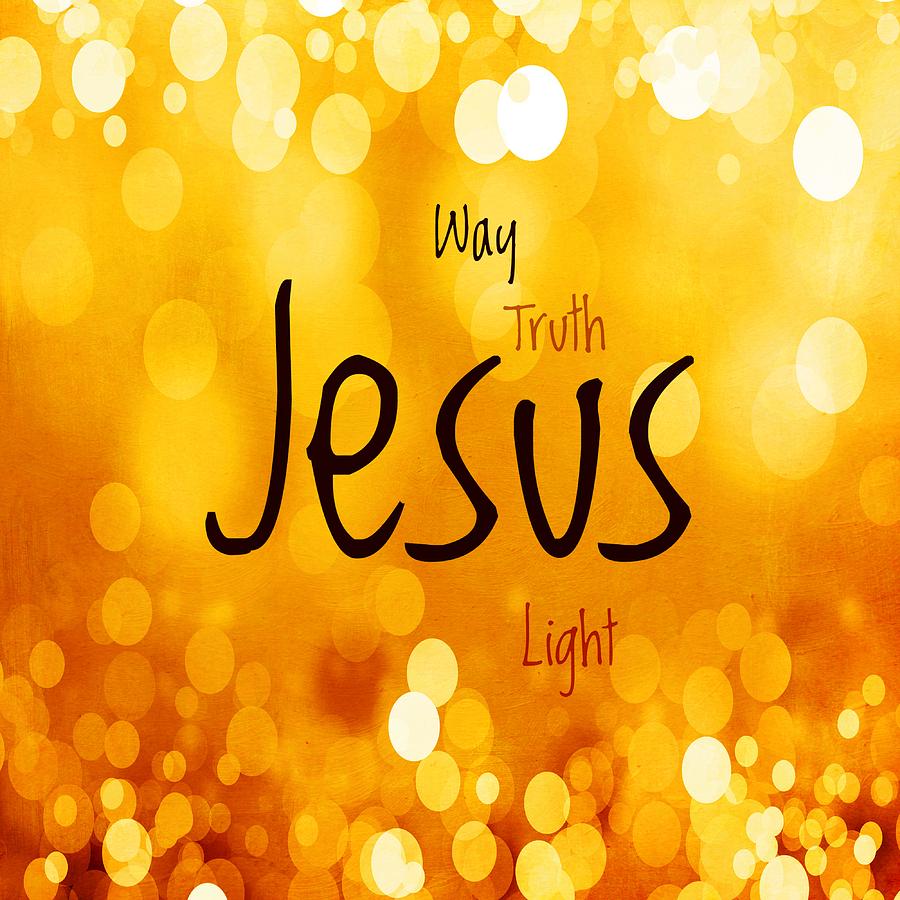 Jesus Light 1 Mixed Media