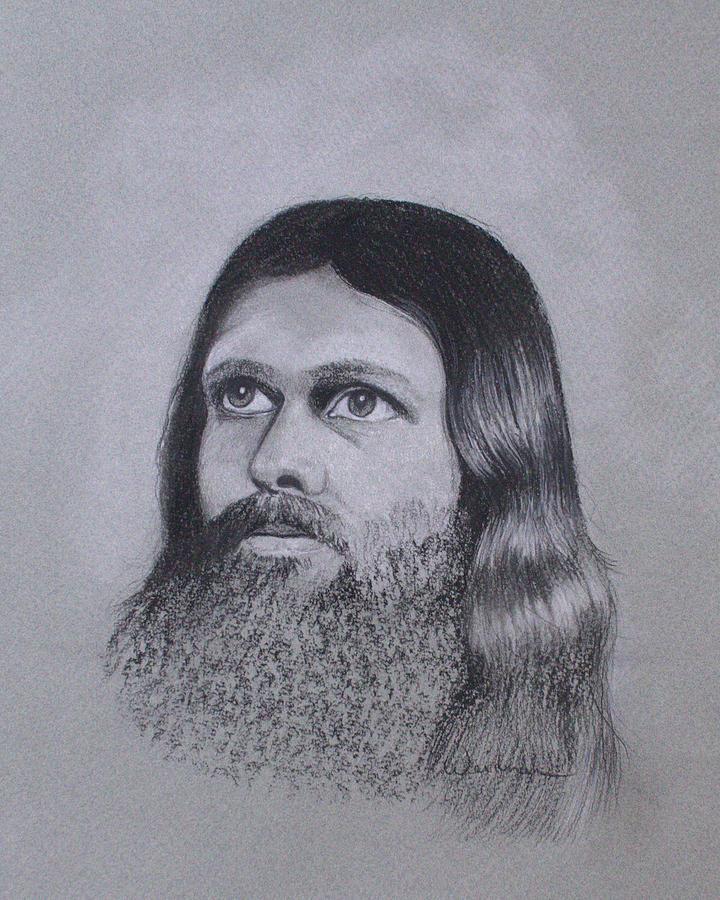 Jesus Drawing - Jesus Looking To Heaven by Kathy Weidner
