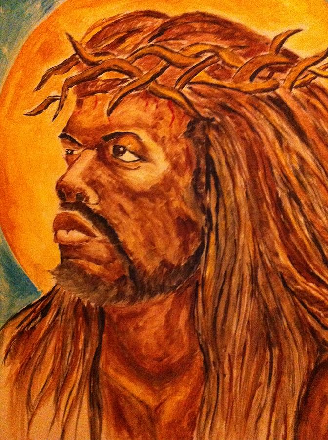 Religious Art Jesus Christ God Portrait Religion  Drawing - Jesus Of Color by Clyde Taylor