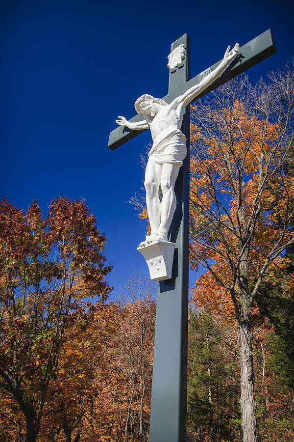 3scape Photos Photograph - Jesus On The Cross by Adam Romanowicz