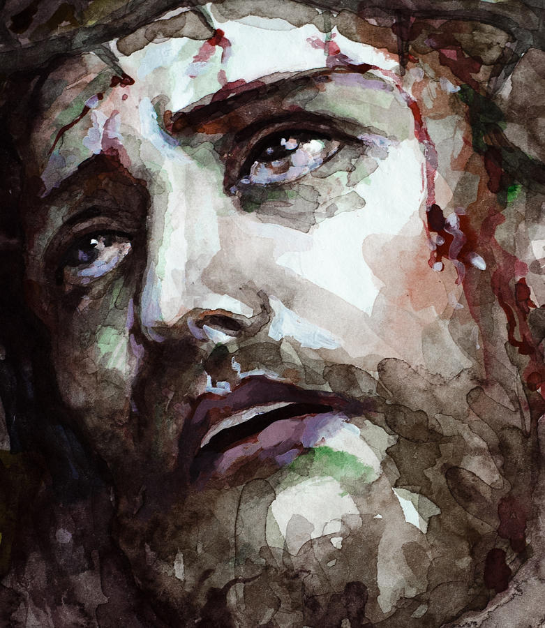 Jesus Suffering Painting by Laur Iduc