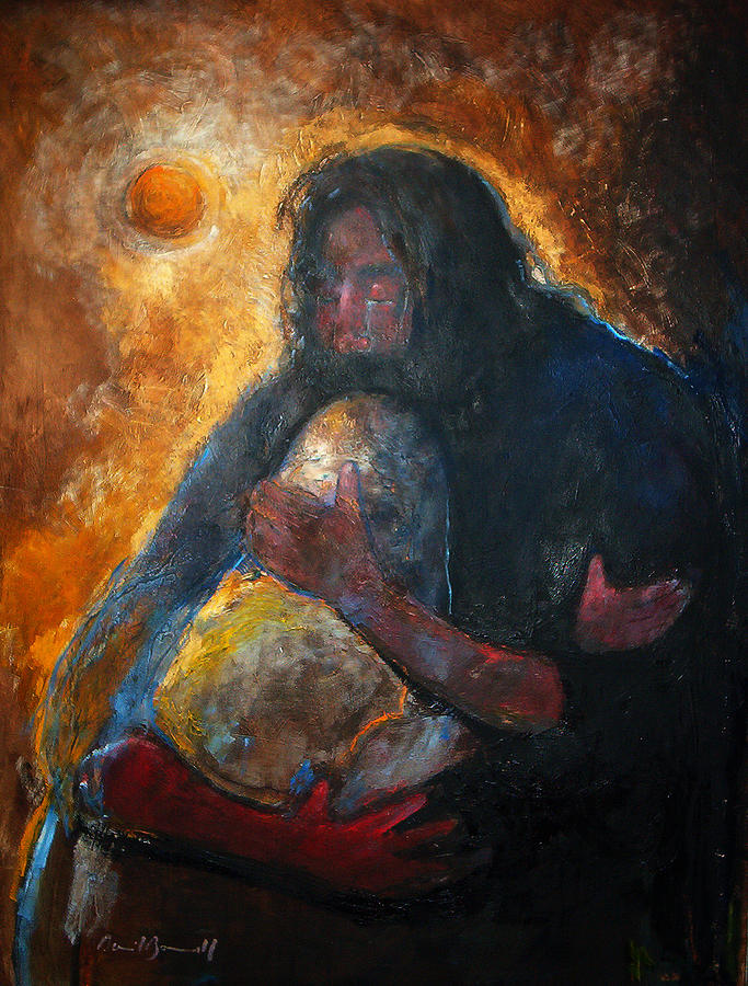 Spiritual Art Painting - Jesus Wept by Daniel Bonnell