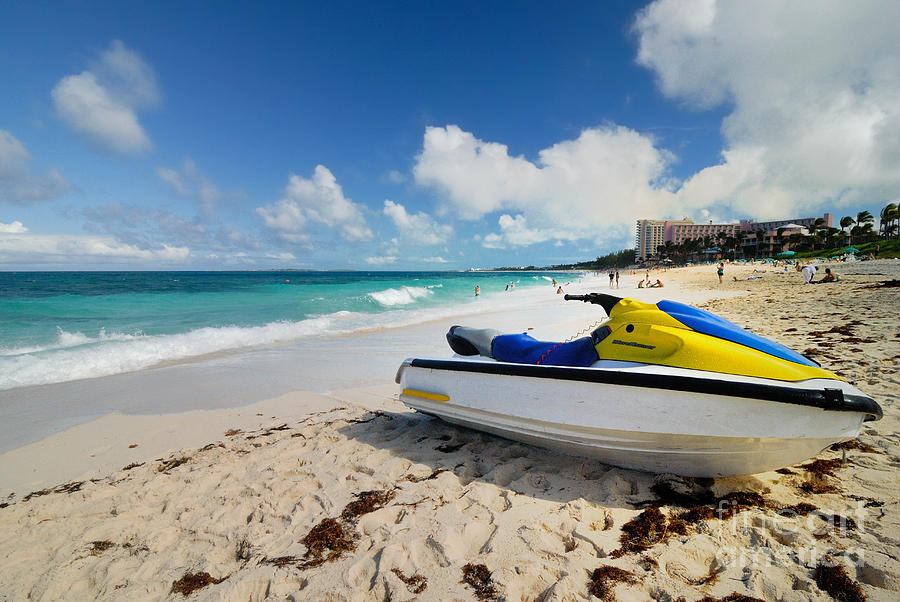 Jet Ski On The Beach At Atlantis Resort Photograph