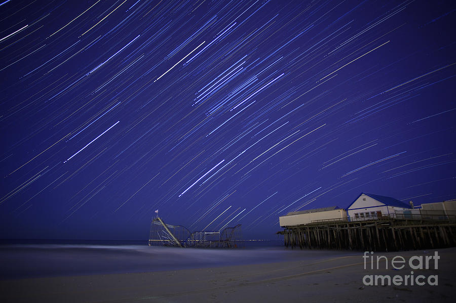 Sandy Photograph - Jet Star Trails by Amanda Stevens