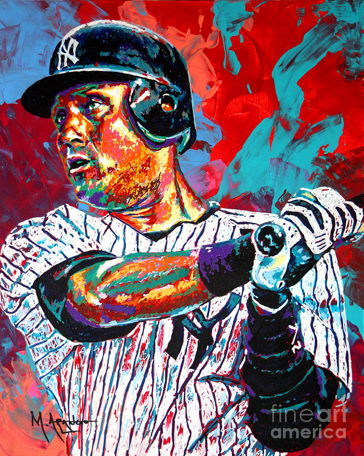 Jeter At Bat Painting  - Jeter At Bat Fine Art Print