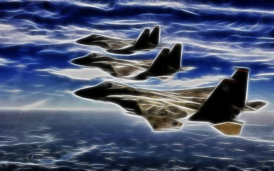 Jets Digital Art  - Jets Fine Art Print
