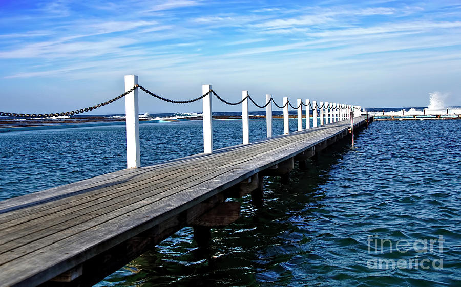 Jetty Stretching To The Ocean Photograph  - Jetty Stretching To The Ocean Fine Art Print