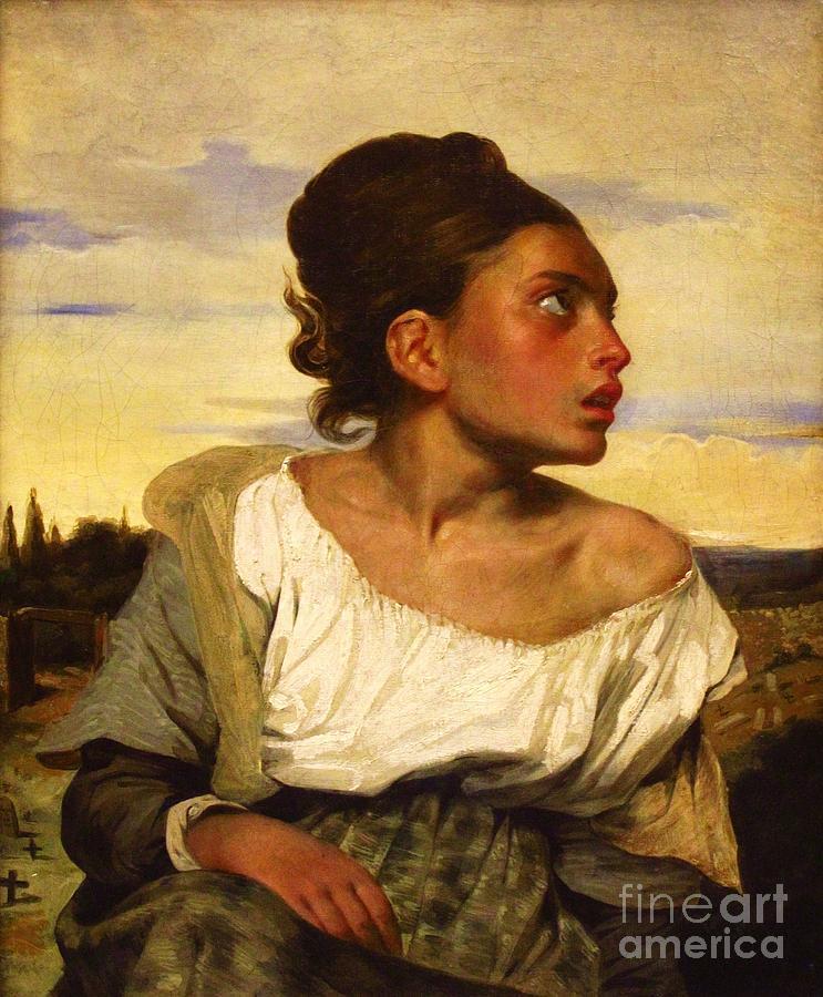 Jeune Orpheline Au Cimetiere Painting
