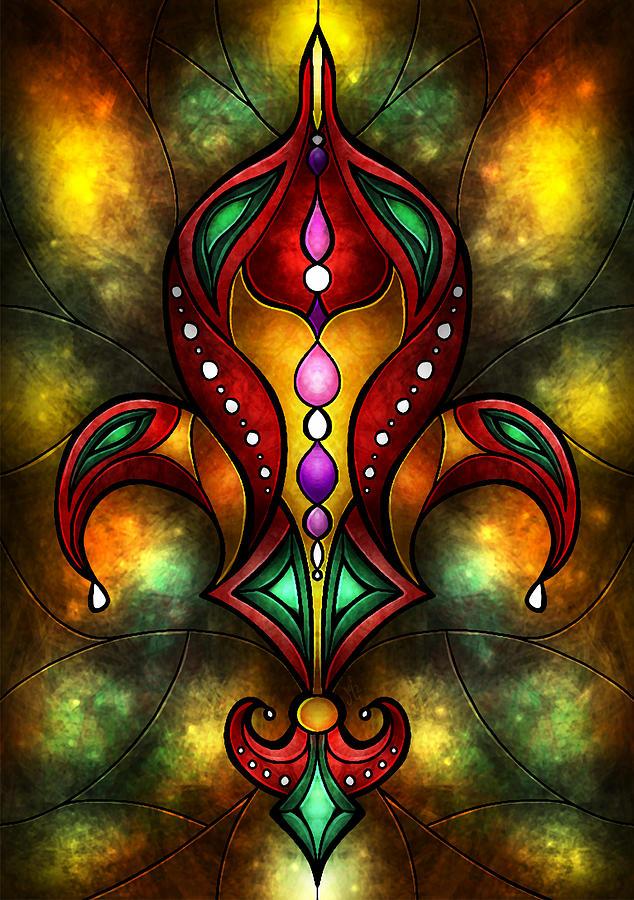 Jeweled Fleur De Lis Digital Art