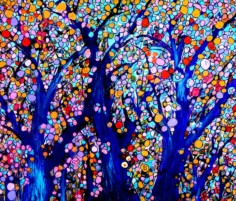 Jeweled Forest Painting