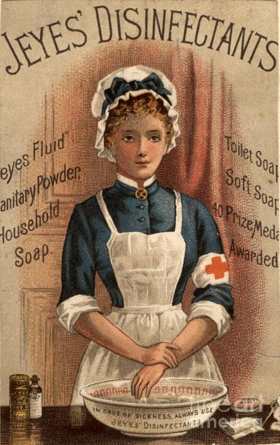 Jeyes 1890s Uk Nurses  Disinfectant Drawing