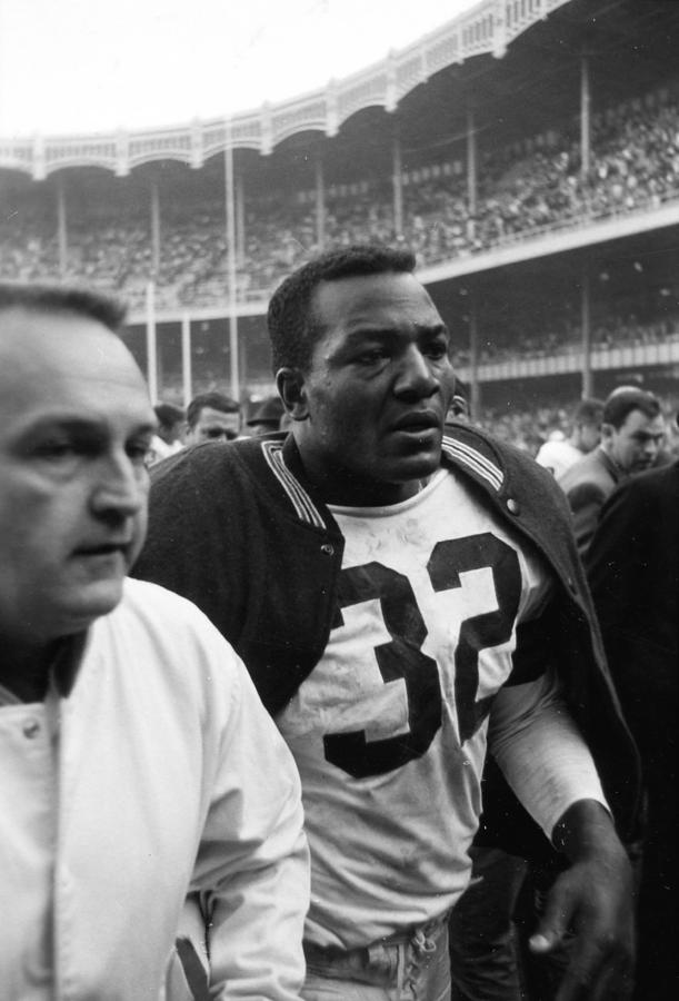 Jim Brown Post Game  Photograph