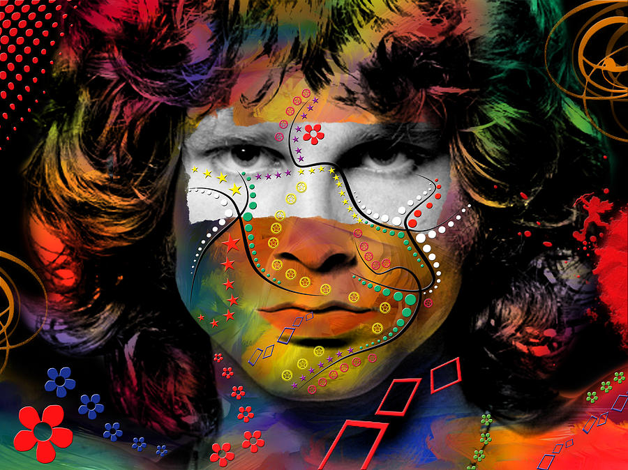 Jim Morrison Digital Art  - Jim Morrison Fine Art Print