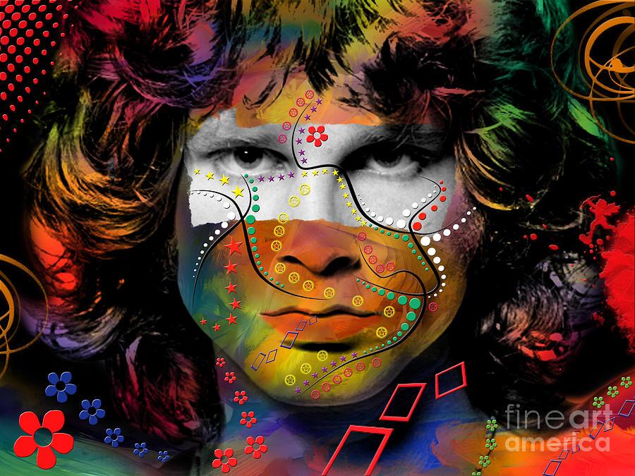 Jim Morrison Digital Art - Jim Morrison by Mark Ashkenazi
