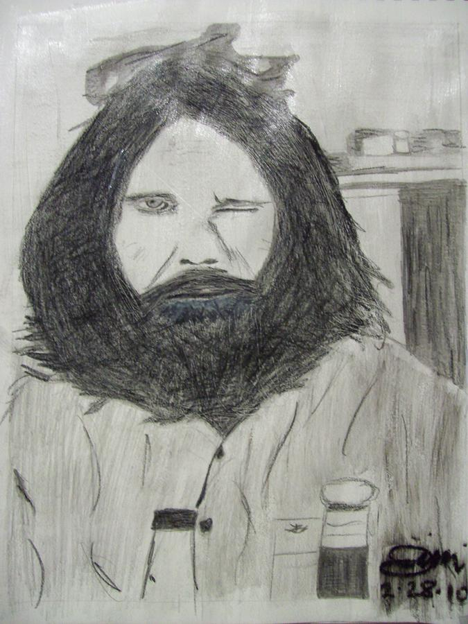 Jim Morrison Pencil Drawing  - Jim Morrison Pencil Fine Art Print