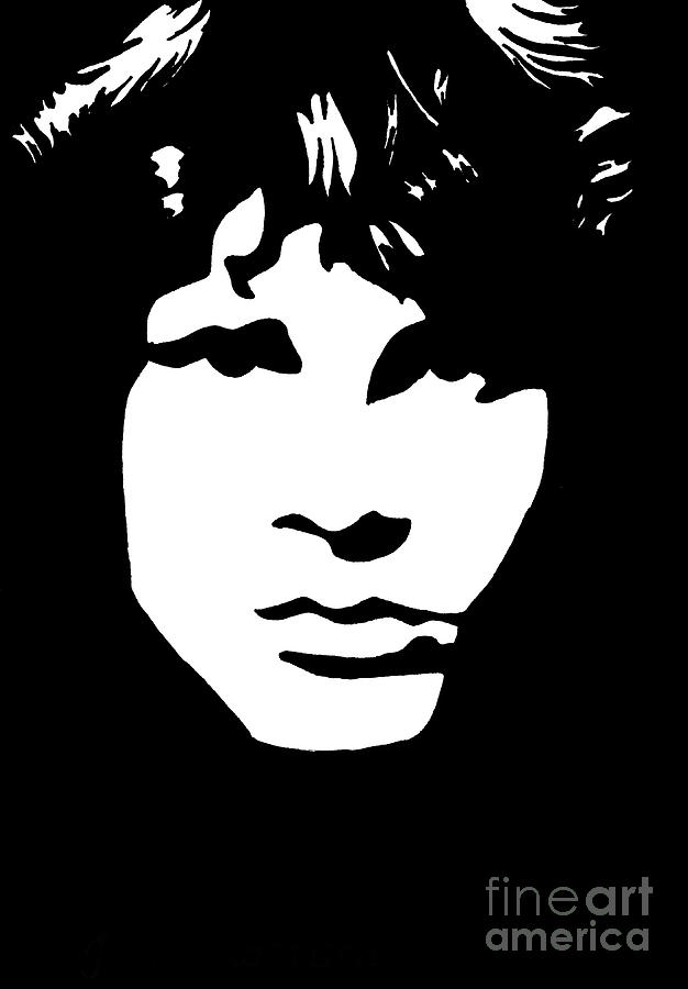 Jim Morrison  Drawing  - Jim Morrison  Fine Art Print