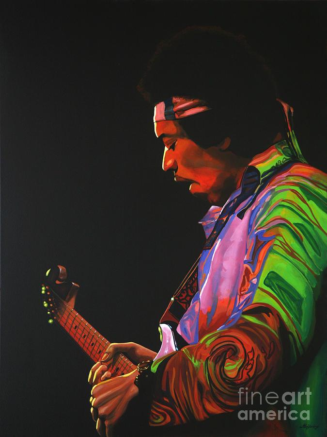 Jimi Hendrix 4 Painting