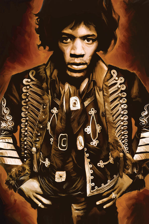 Jimi Hendrix Paintings Painting - Jimi Hendrix Artwork by Sheraz A