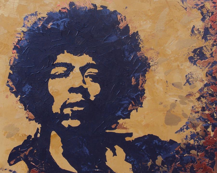 Jimi Painting - Jimi Hendrix by David Shannon
