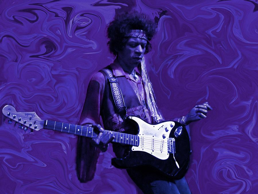 Jimi Hendrix Purple Haze Photograph  - Jimi Hendrix Purple Haze Fine Art Print