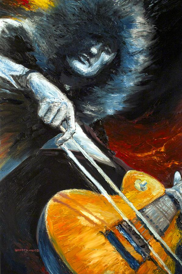 Jimmy Page Dazed And Confused Painting  - Jimmy Page Dazed And Confused Fine Art Print