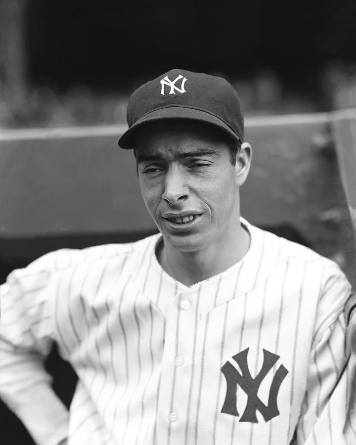 Joe Dimaggio Looking Down Photograph