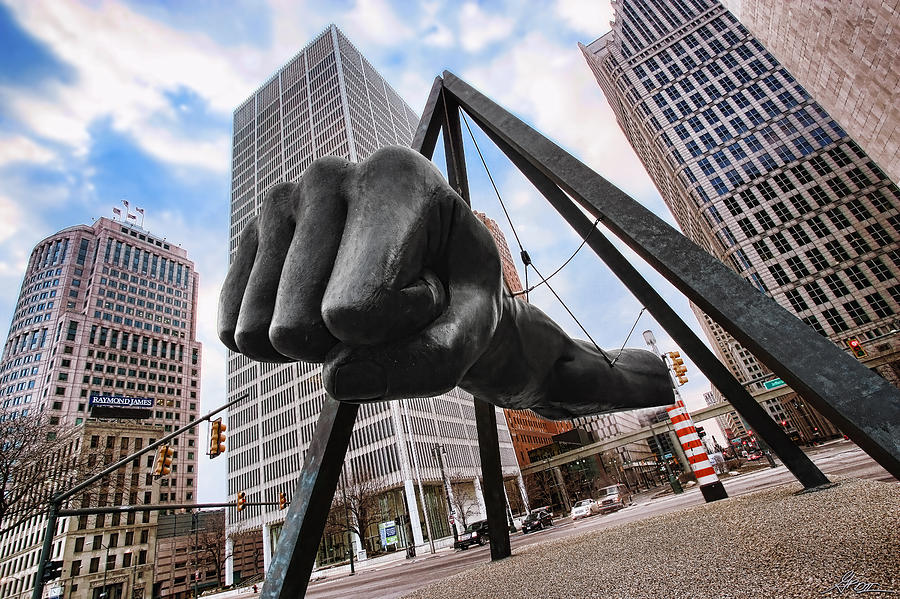 Joe Louis Fist - In Your Face - Version 2 Photograph