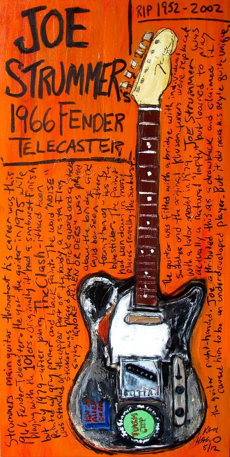 Joe Strummers 1966 Telecaster Painting