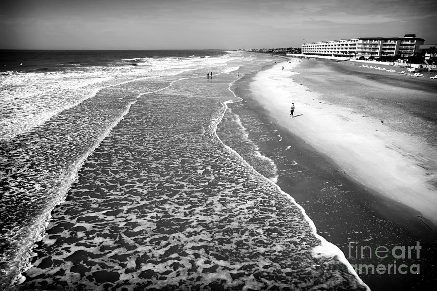 Jogging At Folly Beach Photograph  - Jogging At Folly Beach Fine Art Print