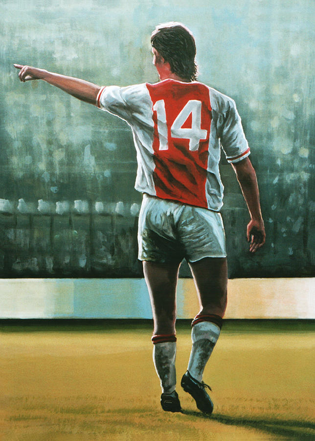 Johan Cruijff Nr 14 Painting