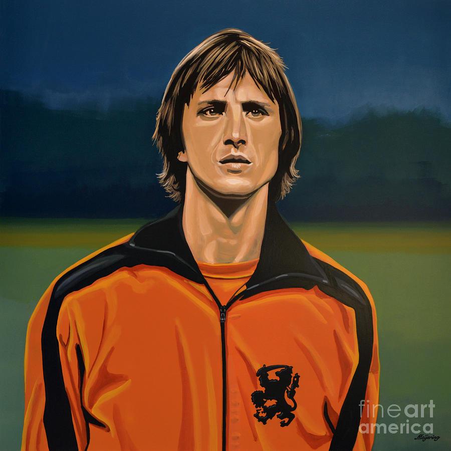 Johan Cruyff Oranje Painting