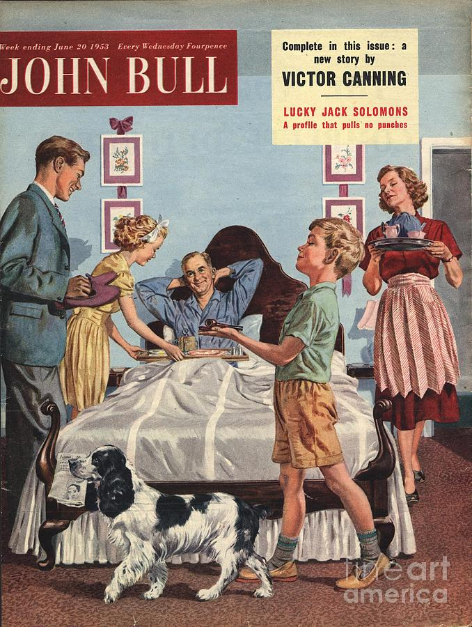 John Bull 1950s Uk Father�s Day Drawing