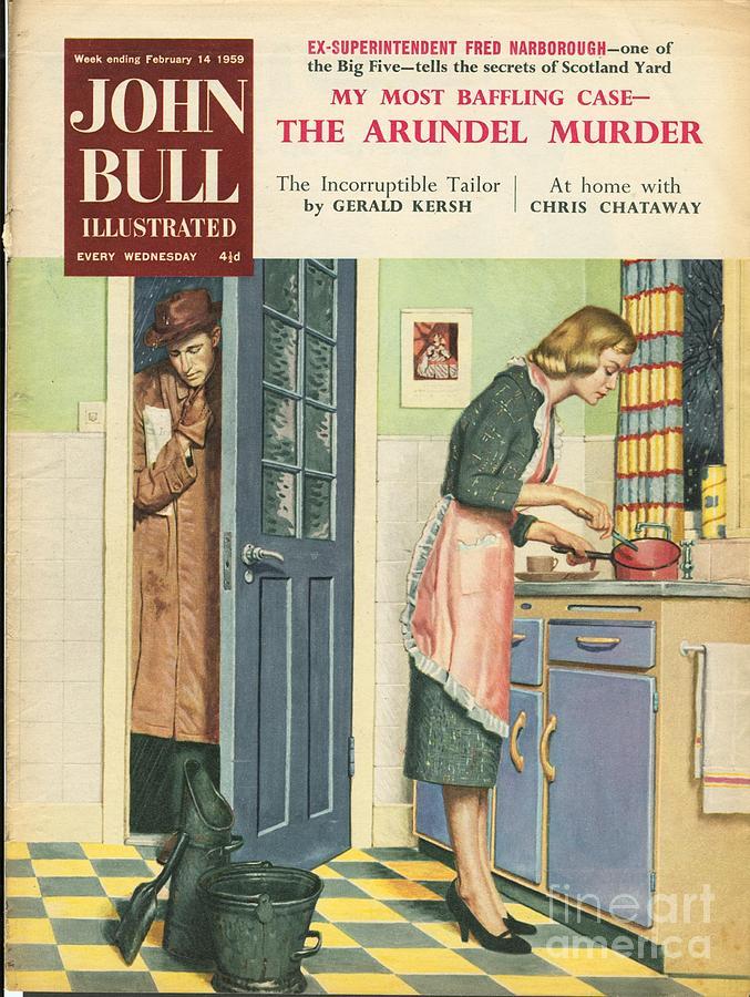 John Bull 1959 1950s Uk Cooking Drawing