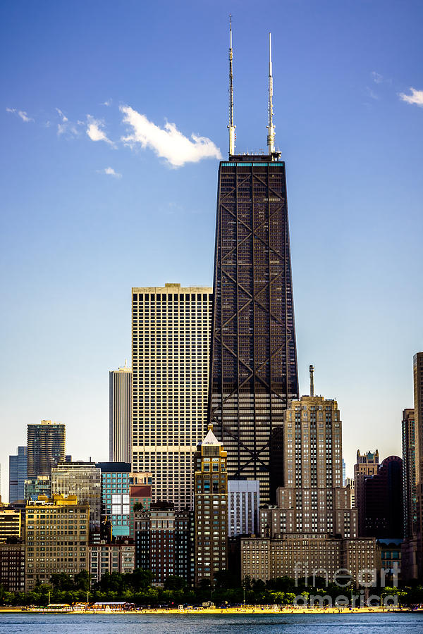 John Hancock Center Building In Chicago Photograph  - John Hancock Center Building In Chicago Fine Art Print